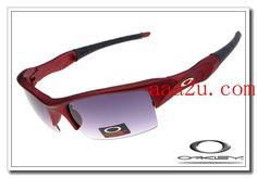 Oakley flak jacket sunglasses red metallic / grey iridium $13.00