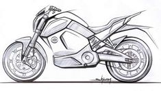 Revolt intellicorp reveals the design sketch of its electric motorcycle Luxury Sports Cars, Moto Quad, Bike Drawing, Drawing Art, Bike Sketch, Motorbike Design, Bike News, Motorcycle Art, Art Drawings Sketches