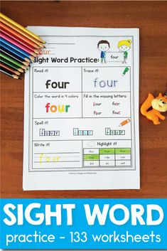 Patterning books and videos are great tools to teach children the basic concept of how repeating sets of objects creates a pattern. Sight Word Worksheets, Sight Word Activities, Learning Activities, Reading Resources, Teacher Resources, Reading Tips, Early Reading, Teaching Reading, Sight Word Practice