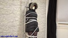 Tied up in down jacket 2
