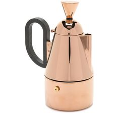 Tom Dixon Brew Stove Top Coffee Maker ($195) ❤ liked on Polyvore featuring home, kitchen & dining, small appliances, copper, tom dixon, kitchen electrics and electric coffee maker