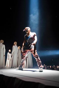 Kanye West in Maison Martin Margiela for Yeezus Tour