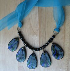 GIANT TEARDROPS statement necklace. $45.00.