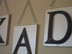 date - put up all our initials  Ucreate: Monogram Wall Hanging