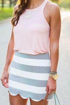 Stripes + scallops.
