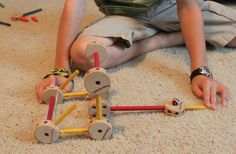 Build a Tinker Toy Catapult - Frugal Fun For Boys
