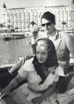 Romy Schneider and Alain Delon in Cannes, 50s