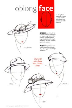 Os chapéus com aba para cima favorecem as faces oblongas. - Hats with  upward brims favor the oblong faces. Try berets 3667d7c46a3