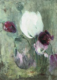 Tulips, 1890 by Helene Schjerfbeck on Curiator, the world's biggest collaborative art collection. Helene Schjerfbeck, Helsinki, Female Painters, Fine Art, Lovers Art, Painting Inspiration, Collage Art, Painting & Drawing, Photo Art
