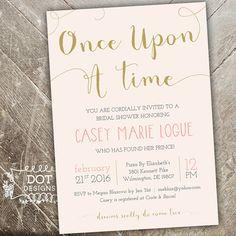 Once Upon a Time - Bridal Shower Invitation - Custom Digital Print