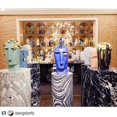 The Head Trip Sculpture Gallery displayed in our floor hallway. Store Windows, Interior Decorating, Interior Design, Kelly Wearstler, Design Firms, Luxury Interior, Home Decor Inspiration, Decoration, Home Accessories