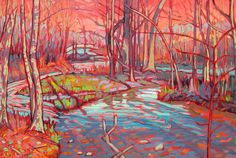 Minnehaha creek series-original painting - Minneapolis Minnesota - Oil on… After The Show Ends, Mn Artists, Minneapolis Minnesota, Original Paintings, The Originals, Canvas, Oil, Inspiration, Etsy