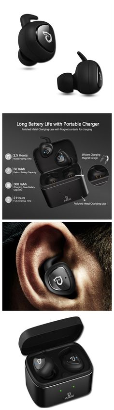 Bluetooth Headphone Sport Headphones Wireless Headset with Microphone and wireless charging. Fits into workout and gym clothes. Great for running without tangles! Fits well into workout and gym clothes. Great gift products for android Samsung Galaxy, LG, Sony, Windows 10, laptop, Macbook and Apple iPhone 7 8 10 X Plus users, men and women and those who are active in yoga health and fitness and travel. Take music anywhere, packs easily in purses, luggages, backpacks and travel bags…