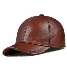 HL171-F genuine leather baseball golf/sport cap hat  men's winter warm brand new cow skin leather newsboy caps hats 5 colors