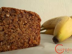 Couzinista: Light κέικ μπανάνας χωρίς ζάχαρη Diet Recipes, Recipies, Banana Bread, Healthy Snacks, Goodies, Food And Drink, Sweets, Sugar, Desserts