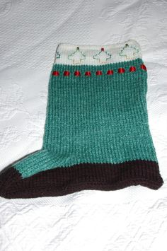 Christmas Stocking Hand Knitted £8.50