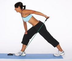 Triceps Kickback with Resistance Tube: Targets: Triceps & Shoulders. (This is my outdoor workout)