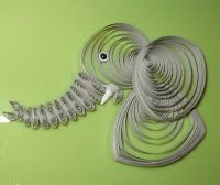 Licenced To Quill: Quilled Elephant Head