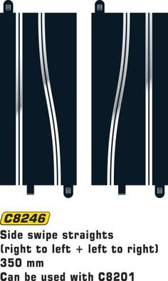 Scalextric C8205 Sport Racing Track Standard Straight 350mm Long 4 pcs