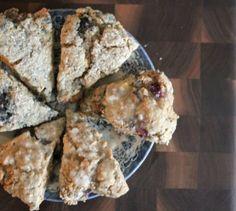 Vegan Meyer Lemon Blueberry Scones - substitute almond milk for soy