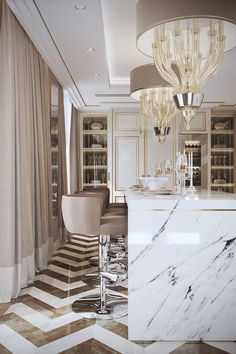 10 Marble Kitchen Islands To Inspire You Luxury Kitchens inspire Islands Kitchen marble Luxury Kitchen Design, Luxury Kitchens, Interior Design Kitchen, Marble Interior, Luxury Interior Design, Küchen Design, Home Design, Design Color, Design Ideas