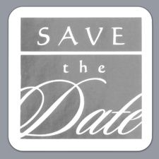 Square - Save the Date Seal - Silver