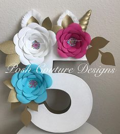 Unicorn Floral Centerpiece/ Unicorn Floral Number/ Unicorn Photo Prop/ Unicorn Birthday Party/ Unicorn Decorations/ Unicorn First Birthday ~~~~~~Only Seen At Posh Couture Designs~~~~~ ~~~~~~~~Designed Exclusively ~~~~~~ By Posh Couture Designs These beautiful Unicorn Numbers