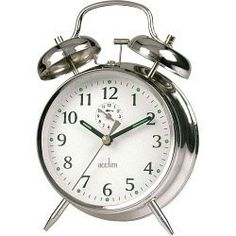 Mechanical wind-up alarm clock with real bells - no worrying about batteries, sockets, leads etc.