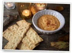 Ryvita thins with bonfire dip
