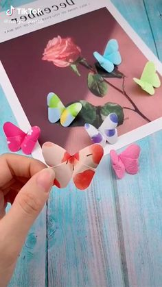 Cool Paper Crafts, Paper Crafts Origami, Cute Crafts, Crafts To Do, Diy Paper, Easy Crafts, Paper Art, Instruções Origami, Easy Origami Butterfly