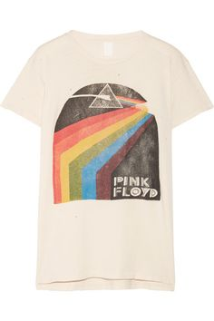 ShopStyle Look by mariehotdeals featuring MadeWorn - Pink Floyd Distressed Printed Cotton-jersey T-shirt - Anthracite and MadeWorn - Blondie Distressed Printed Cotton-jersey T-shirt - White Vintage Band T Shirts, Music Festival Outfits, Star Wars Kids, Pink Floyd, Printed Cotton, Just In Case, Tee Shirts, Prints, T Shirts