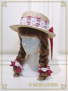 チェリーマーガレットリボンゴム/Cherry marguerite ribbon hair band | BABY,THE STARS SHINE BRIGHT