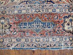 "Antique Persian Mahal Rug 10'0""x13'5"" - Hunttrugs"