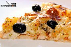 Pizza de pavo y piña