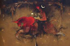 Indian Contemporary Art By Shiva Tandav, Shiva Art, Artist Painting, Figure Painting, Tantra Art, Indian Contemporary Art, Lord Shiva Family, Lord Shiva Painting, Radha Krishna Images