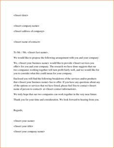 7 Best business proposal letter images in 2016 | Business