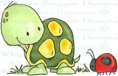 Whipper Snapper Designs is an expansive online store selling a large variety of unique rubber stamp designs. Cartoon Drawings, Cute Drawings, Animal Drawings, Child Draw, Doodles, Turtle Love, Cute Clipart, Cute Illustration, Stone Art