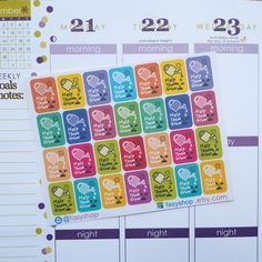 28 Watering Plants Sticker Planner  // Perfect for Erin Condren Life Planner by FasyShop on Etsy
