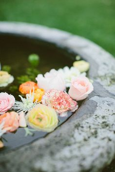 floating florals.a lovely way to add a dash of romance  Photography by http://richelledante.com, Event Coordination and Design by http://sugarandfluff.com