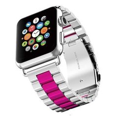 Apple watch sport strand band, Link band, Series 1 2 3 4 Stainless Steel, US Fast shipping Apple Watch Silver, Apple Watch Features, Apple Watch Bands Fashion, Stainless Steel Rolex, Apple Band, Silver Apples, Apple Watch Faces, Apple Watch Series, Watches Online