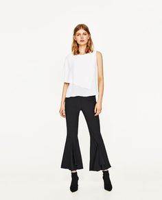 ZARA - WOMAN - TOP WITH ASYMMETRIC SLEEVES