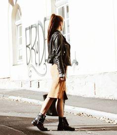MAZE LEATHER SKIRT   streetstyle blogger inspiration