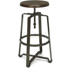 The OFM Model Endure Series Bar Height Adjustable Stool is an industrial-grade gem for your kitchen or dining space. It's crafted of three-gauge. E Learning, Tall Stools, Swivel Bar Stools, Cafe Tables, Cafe Chairs, High Chairs, Dining Chairs, Conference Room Chairs, Adjustable Stool