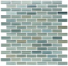 Reflections Hand Painted Glass Mosaic Subway Tile