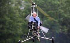 Ken Wallis piloting a Gyro-copter.