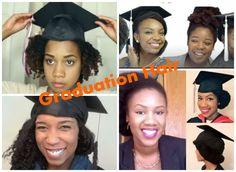 Natural hair graduation cap styles   New. Normal. Natural ...