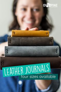 With our variety of sizes, colors, refillable option and closure types, you'll find your perfect journal, which you can also customize.