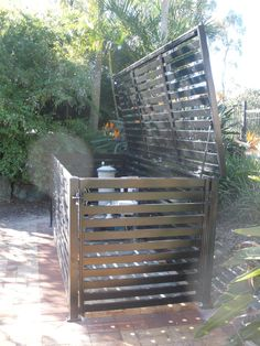 Award Gates Screens and Fences contemporary-landscape Pool Equipment Enclosure, Pool Equipment Cover, Pool Shed, Pool Fence, Propane Tank Cover, Hidden Pool, Pool Storage, Backyard Retreat, Backyard Patio