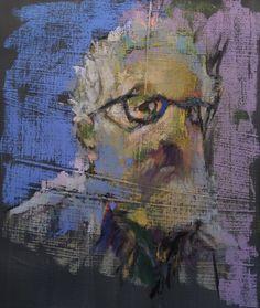 "A Self Portrait in Winter. 2016. Pastel & Graphite. 14.6"" x 12.6."" Casey Klahn."