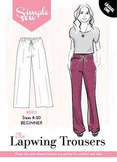 dfe1ffa016efcc Simple Sew Pattern The Lapwing Trousers SR13 8-20. NähideenSchnittmuster Hosen